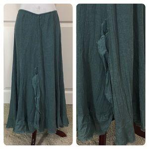 Free People boho chic gauze skirt